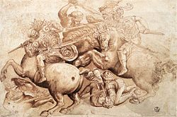 After leonardo da vinci, The Battle of Anghiari (copy of a detail).jpg