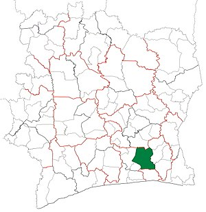 Agboville Department - Image: Agboville Department locator map Côte d'Ivoire