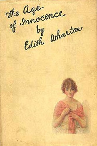 Upper class - First edition dust cover of Edith Wharton's 1920 Pulitzer Prize-winning novel The Age of Innocence, a story set in upper-class New York City in the 1870s