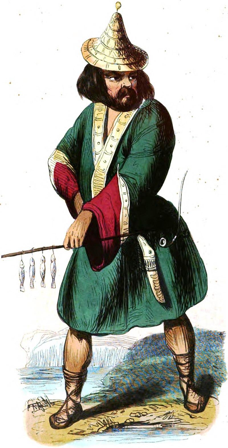 Ainos (Asie). Auguste Wahlen. Moeurs, usages et costumes de tous les peuples du monde. 1843.jpg