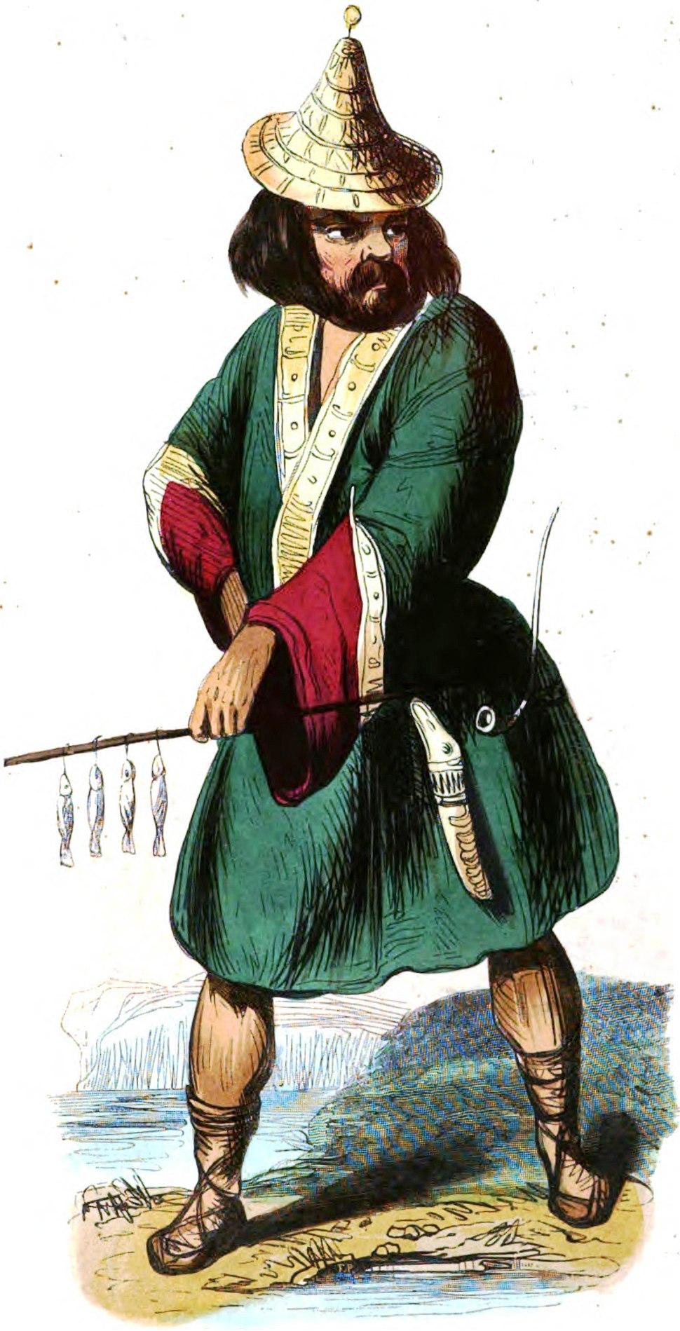 Ainos (Asie). Auguste Wahlen. Moeurs, usages et costumes de tous les peuples du monde. 1843