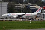"""Air Europa Airbus A330-202 EC-KOM """"Be Live Hotels, Live Your World"""" sticker (26413699936).jpg"""