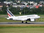 Air France Airbus A318-111 - F-GUGN (ZRH) (20323266968).jpg