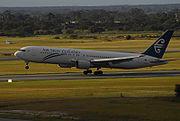 Boeing 767-300 landing