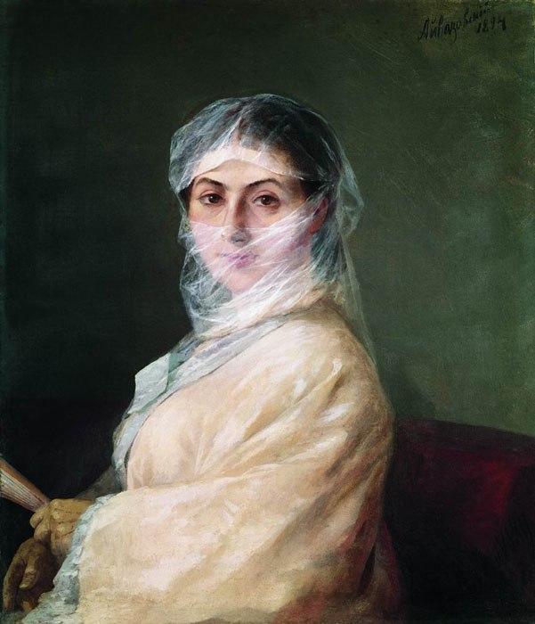 Aivazovsky - Portret of wife, Anna Burnazyan-Sarkisova