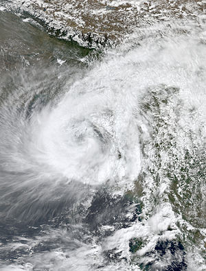 2007 North Indian Ocean cyclone season - Image: Akash May 14 2007 0700Z