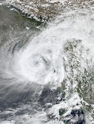 2007 North Indian Ocean cyclone season - Image: Akash May 14 2007 0700Z