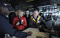 Alaina Huffman, Elyse Levesque and Mark Davidson on Carl Vinson.jpg