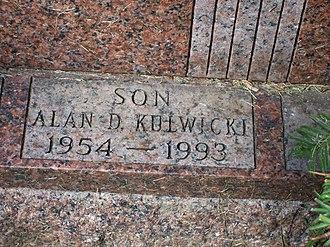 Alan Kulwicki - Grave marker at St. Adalbert cemetery