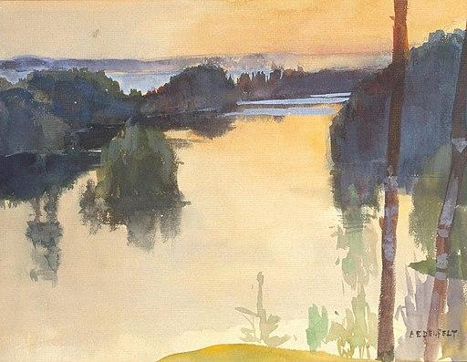 Albert Edelfelt - Maisema (c.1889)