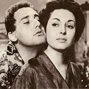 Alberto Sordi - Sordi and Lea Padovani in Il seduttore (1954)