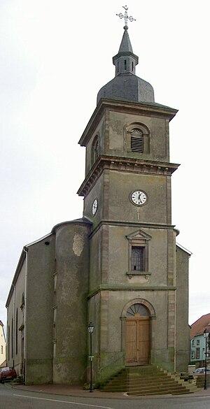 Albestroff - Image: Albestroff, Église Saint Adelphe
