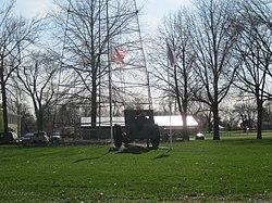 Public park and war memorial in Albion