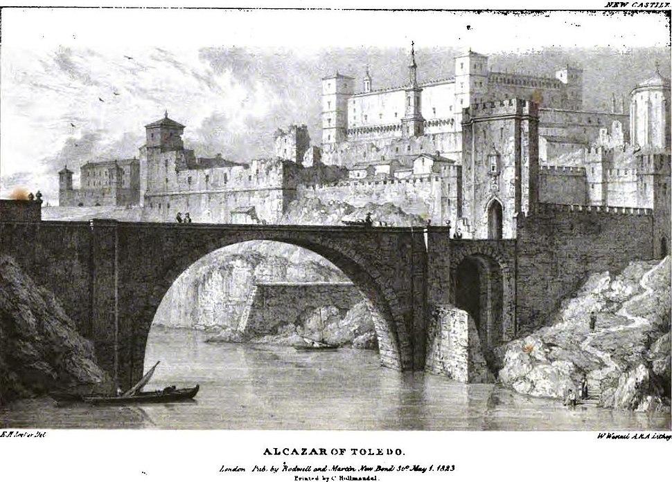 Alcázar of Toledo 1823 Edward Hawke Locker