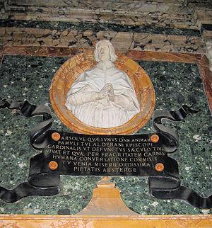 Alderano Cybo - Sculpture of Alderano Cybo at the Santa Maria del Popolo.