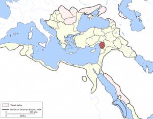 Aleppo Eyalet - Image: Aleppo Eyalet, Ottoman Empire (1609)