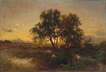 Alexander Brodszky - Podvečerná krajina - O 1377 - Slovak National Gallery.jpg