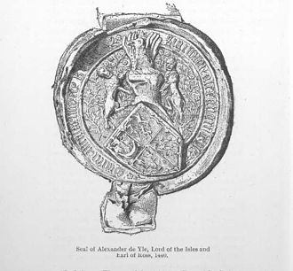 James I of Scotland - Seal of Alexander, Earl of Ross and Lord of the Isles.
