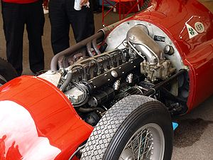 Formula One engines - This Alfa Romeo 159 supercharged straight-8 engine of 1950s could produce up to 425 bhp.