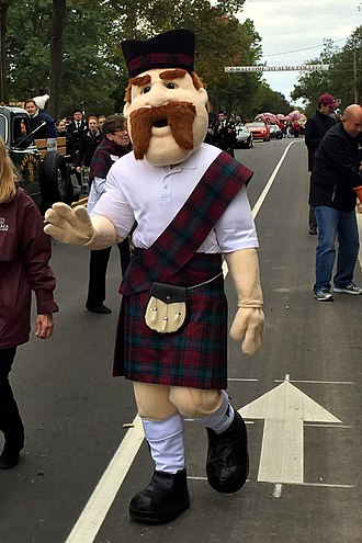 Alma College - Alma college's mascot, Scotty, walking in the 2015 homecoming parade
