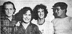 Almendra (band) - (Left-to-Right) Emilio Del Guercio, Rodolfo García, Luis Alberto Spinetta, and Edelmiro Molinari