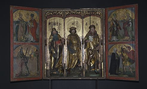 The Kvæfjord altar piece from 1520, now stored in the Norwegian Museum of Cultural History.
