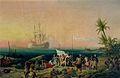 Ambroise-Louis Garneray - Jean de Bethencourt découverte de l'île de Lanzarote en 1402.jpg