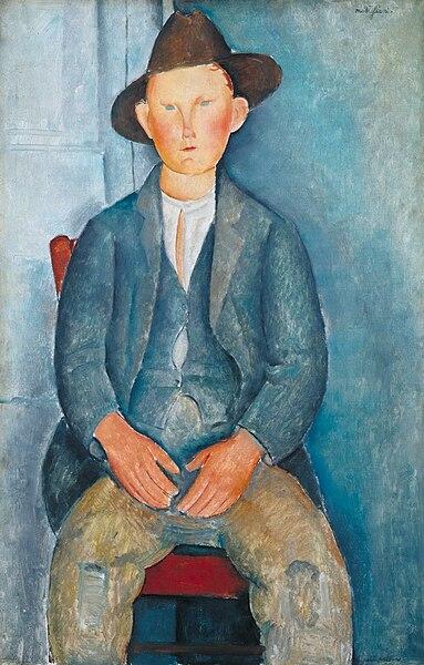 Le petit paysan d'Amadeo Modigliani (1918).