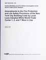 Amendments to the fire protection and life safety provisions of the New York City building code by local laws adopted while World Trade Center 1, 2, and 7 were in use (IA amendmentstofire11razz).pdf