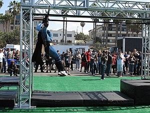 American Ninja Challenge - American Ninja Challenge competitor in Batman costume.
