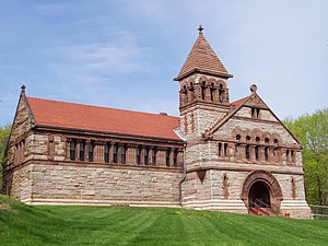 Ames Free Library - Image: Ames Free Library (North Easton, MA) oblique view