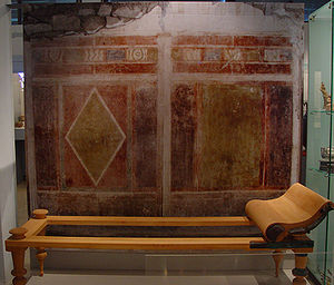 Amphipolis - Fresco from a house (Hellenistic period).