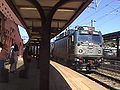 Amtrak AEM 7 leading an Amtrak Train at New London, CT.JPG