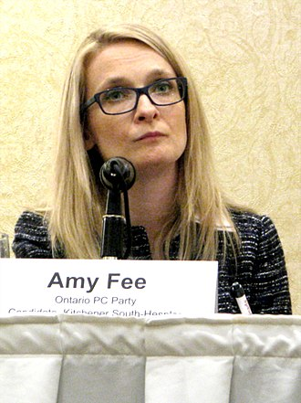 Amy Fee - Fee participating in the Developmental Services Sector All Candidates Meeting in Waterloo Region during the 2018 Ontario Provincial Election