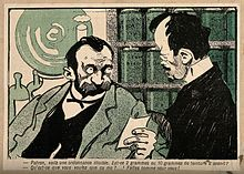 An apothecary tells a drug addict to fill in his own prescri Wellcome V0011876.jpg