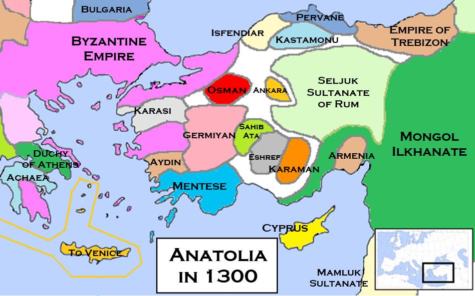 Anatolian Beyliks in 1300