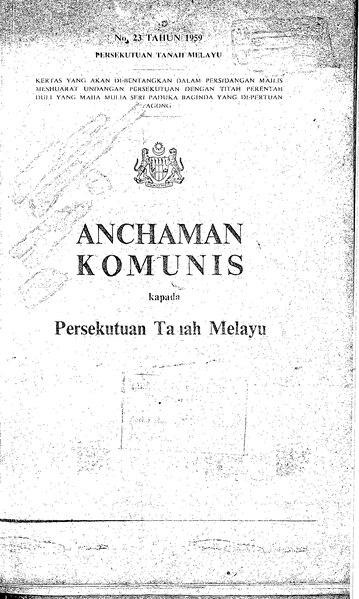 File:Anchaman Komunis kapada Persekutuan Tanah Melayu.djvu