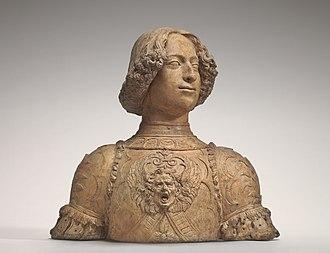 Andrea del Verrocchio - Giuliano de' Medici, c. 1475-1478, National Gallery of Art