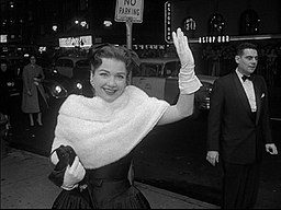 Anne Baxter at the New York premiere of The Ten Commandments