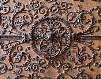 Right of asylum - Sanctuary ring on a door of Notre-Dame de Paris (France).