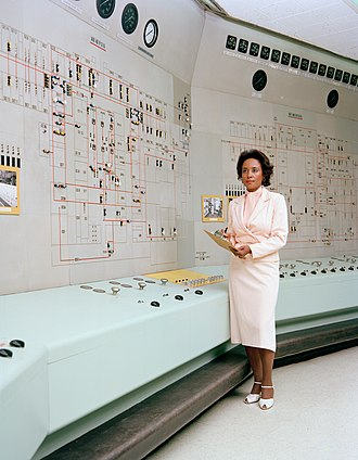 Women in computing - Annie Easley in NASA in 1955.