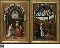Annunciatie en de aanbidding van het Jezuskind, 1452, Groeningemuseum, 0040038000.jpg