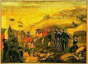 Garibaldi ferito in Aspromonte.