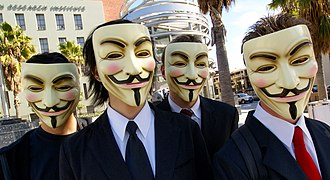 Anonymous (group) - Image: Anonymous at Scientology in Los Angeles