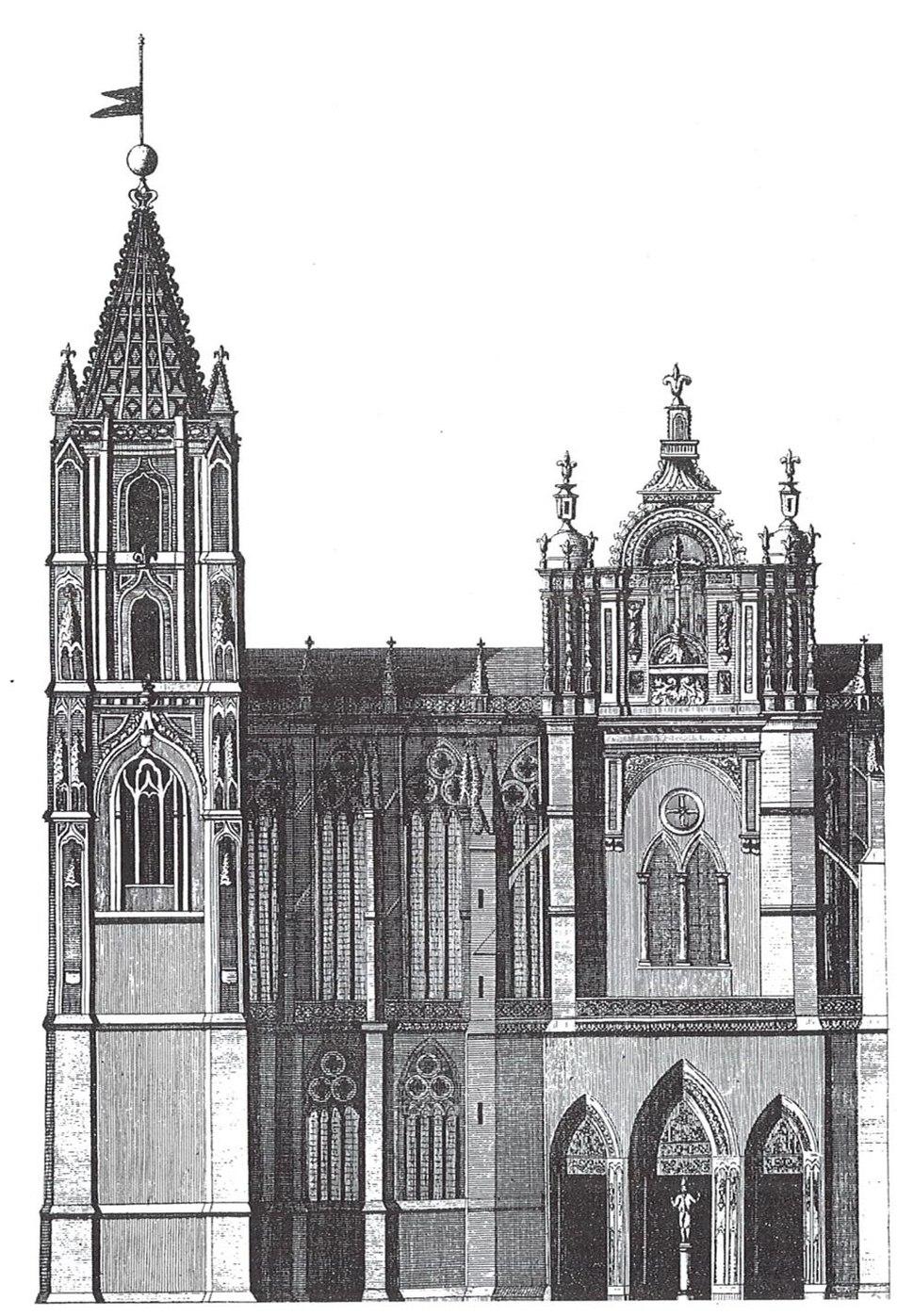 Antigua fachada sur barroca, catedral de León