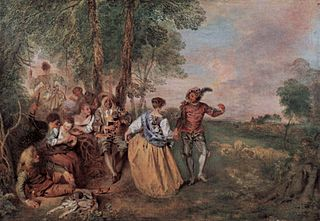 Rococo painting by Antoine Watteau