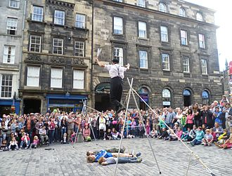 Edinburgh Festival Fringe - Street performer in the High Street