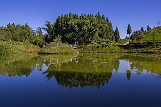 Ilam District - Antu Pond, reflecting the color of its surroundings