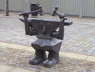 Fareham - Anvil Man at the Henry Cort Sculpture Park