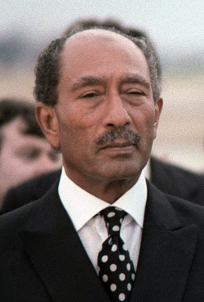 Prezydent Egiptu Muhammad Anwar El Sadat / Źródło: Wikimedia Commons